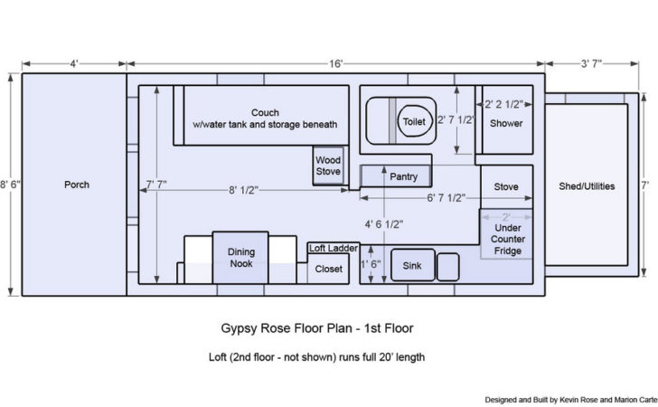 Tiny House Wheels Floor Plans Houses Flooring