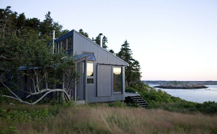 Tiny Off Grid Cabin Maine Completely Self Sustaining