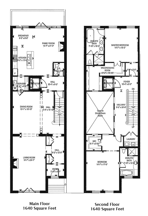 Townhouse Floor Plans Garage