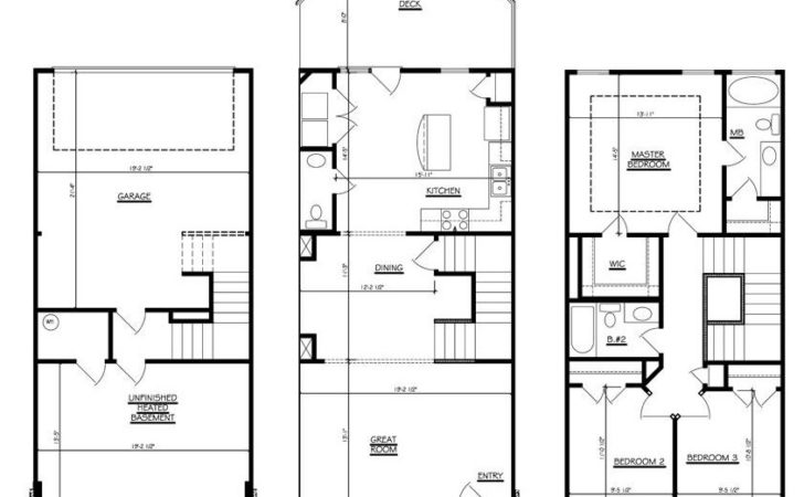 Townhouse Plans Garage Homes Floor