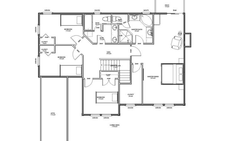 Traditional House Plan Sqft Bedroom Bath