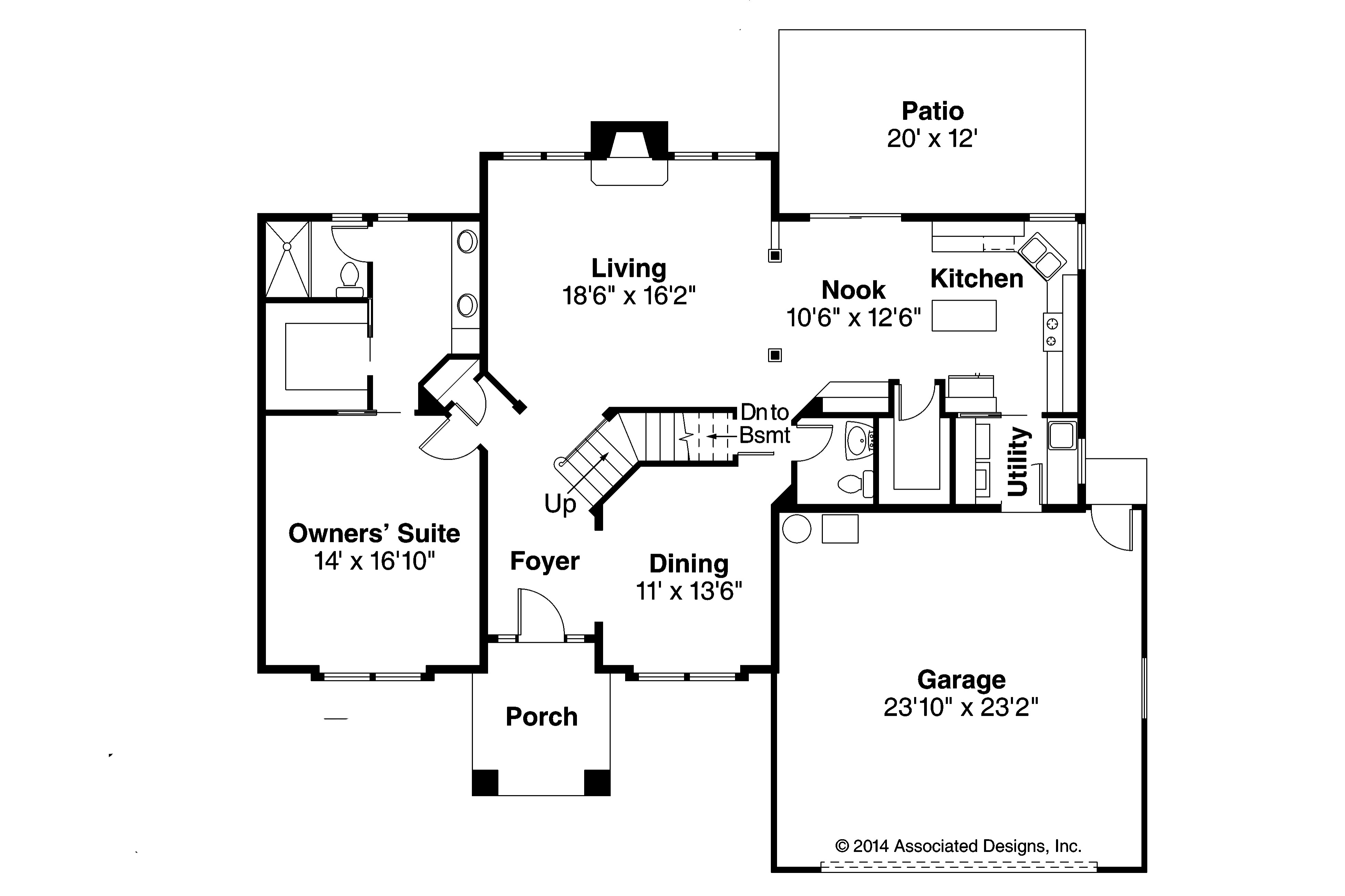 Traditional House Plans Coleridge Associated