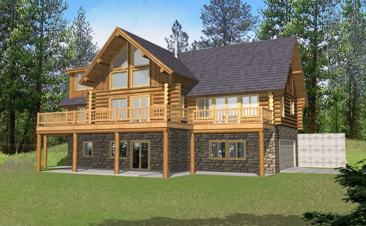 Traditional Log Home Style Cabin