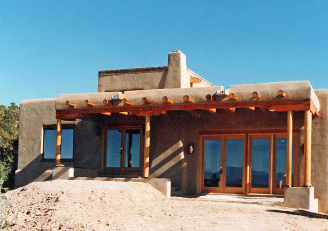 Traditional Pueblo Style Passive Solar Adobe Residence
