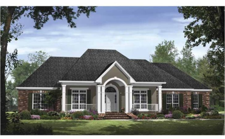 Traditional Style Open Floor Plan Hwbdo Country