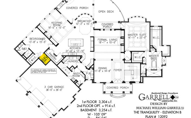 Tranquility Elevation House Plan Plans