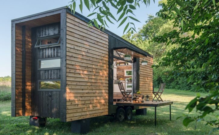Tricked Out Tiny Home Features Garage Door Custom Deck