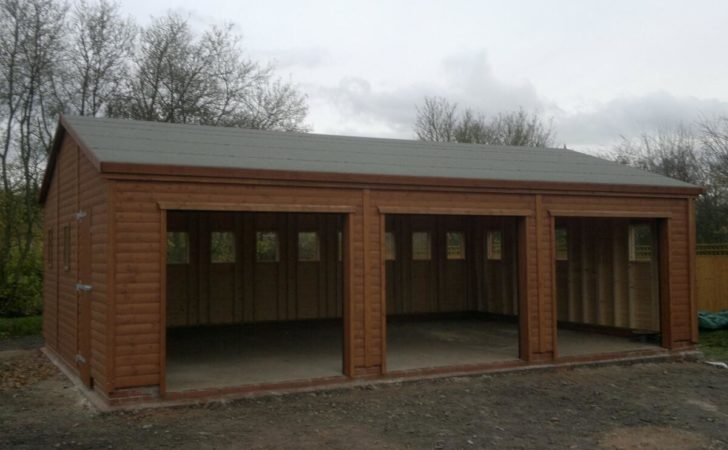 Triple Wooden Garages Trusted Supplier Years