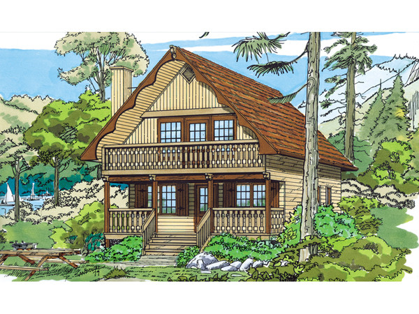 Trumbell Mountain Cottage Home Plan House