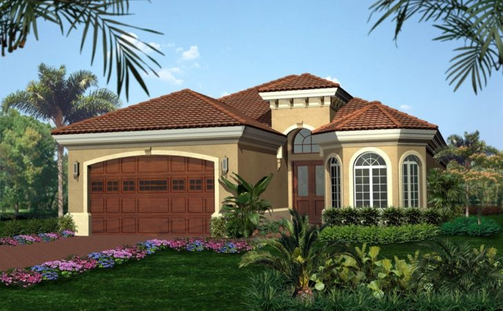 Tuscan Style House Plan Floor Master Suite