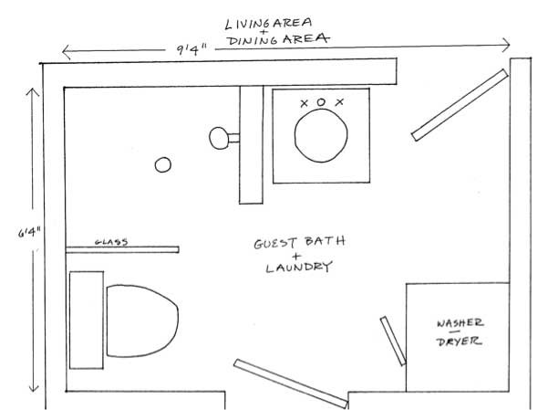 Two Bathroom Laundry Ideas Within Footprint Small
