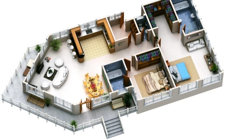 Two Bedroom Apartment House Plans Amazing Architecture