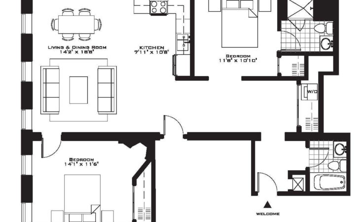 Two Bedroom Apartment Plan Floor Plans