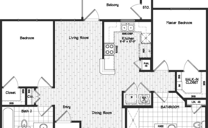 Two Bedroom Bath Floor Plans Real Estate