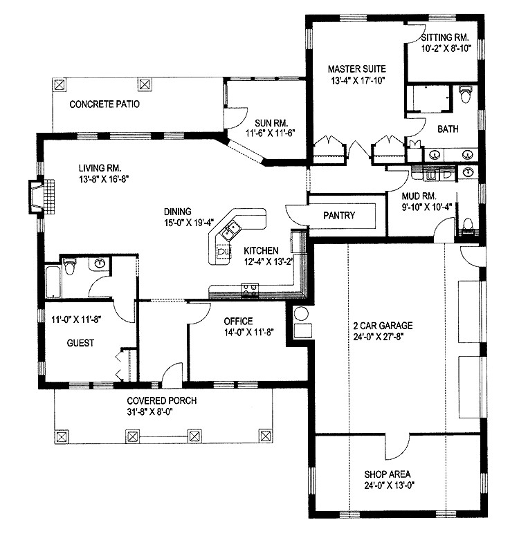 Two Bedroom Craftsman Hwbdo House Plan