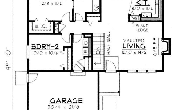 Two Bedroom Ranch Hwbdo House Plan