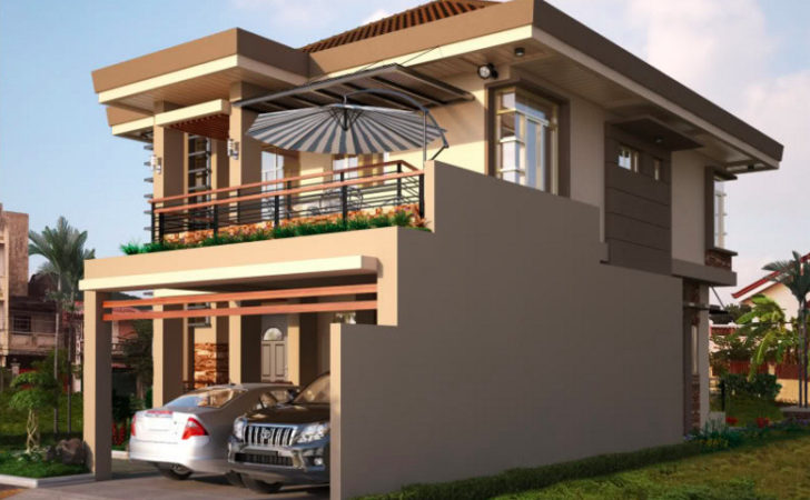 Two Double Storey Houses Small Balcony Amazing