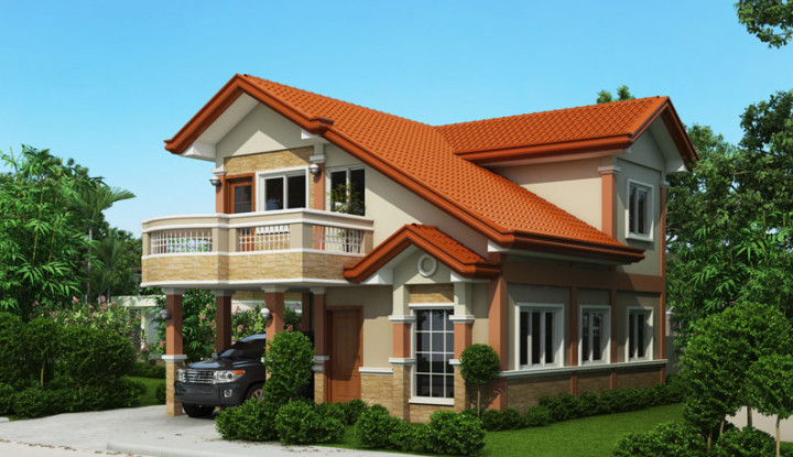 Two Storey House Design Floor Plan Elevation Story