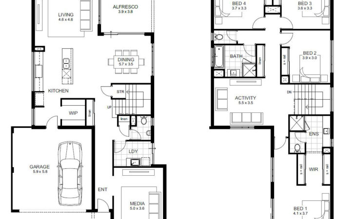 Two Storey House Floor Plan Homes Plans