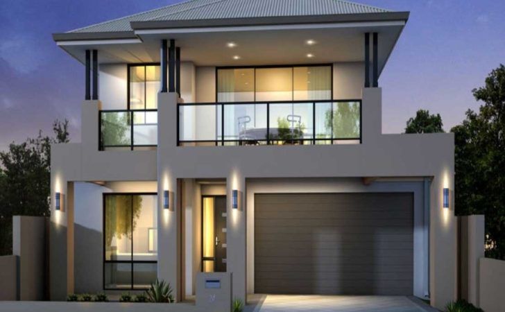 Two Storey House Plans Balcony Glass Railing