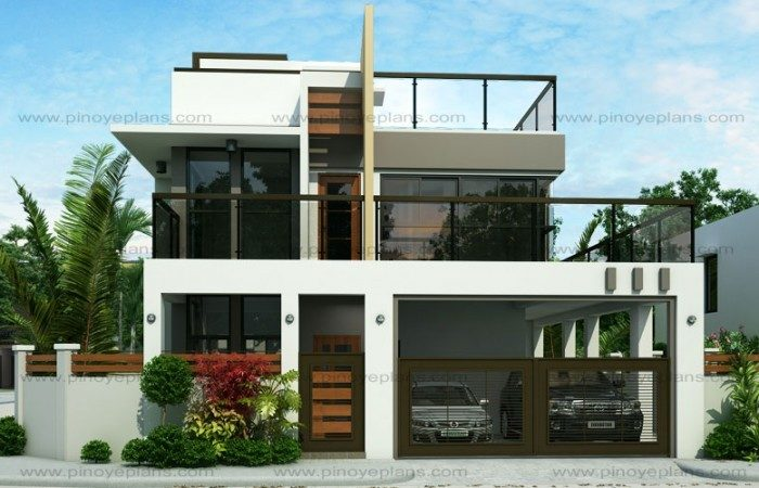 Two Storey Modern Houses Floor Plans