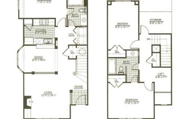 Two Story Apartment Floor Plans Homes