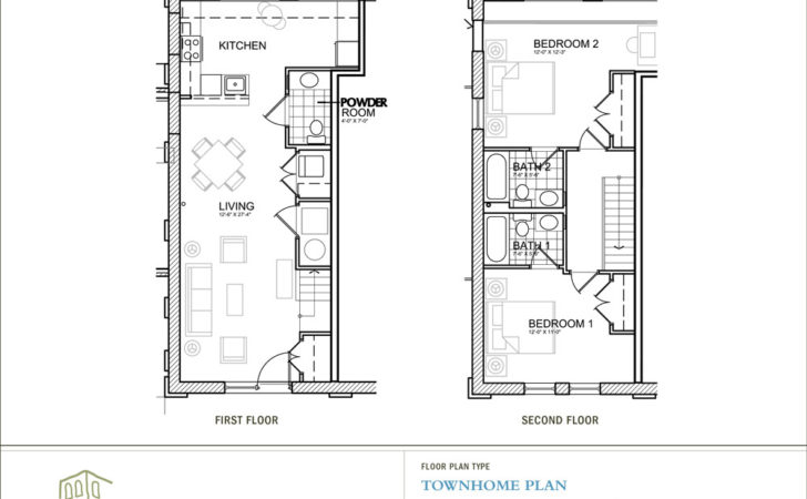 Two Story Apartment Floor Plans House Bedroom