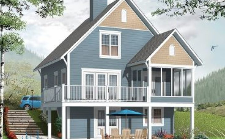 Two Story Beach Cottage Plans House