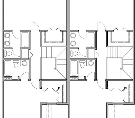 Two Story Duplex House Plans Bedroom