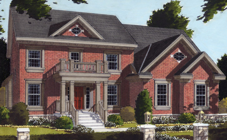Two Story House Plans Front Balcony