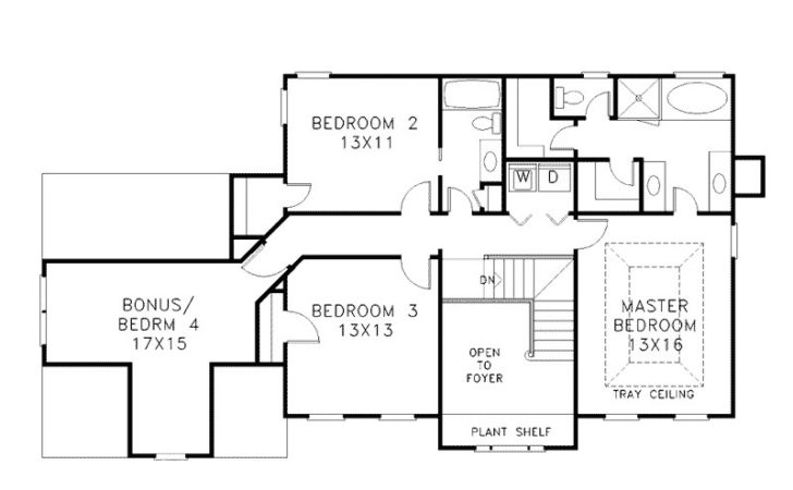 Two Story House Plans Simple Plan