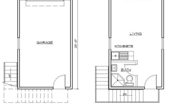 Two Story One Car Garage Apartment Carriage House