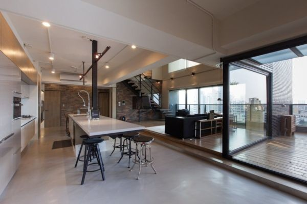 Two Story Penthouse Apartment Taiwan