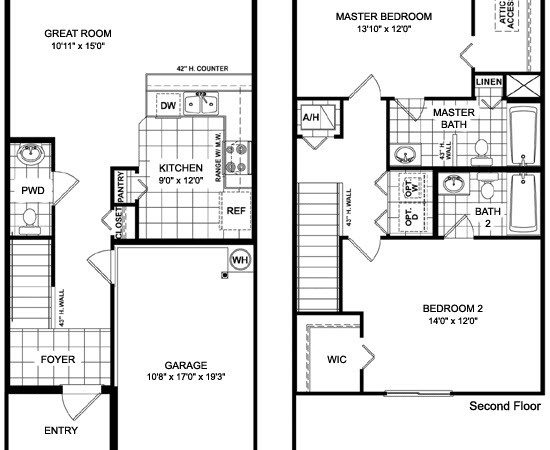 Two Story Townhome Designs Joy Studio Design