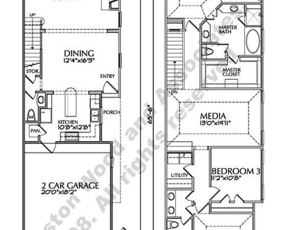 Two Story Townhouse Floor Plan