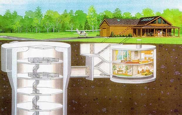 Underground Home Plans Designs Natural Security Shelters