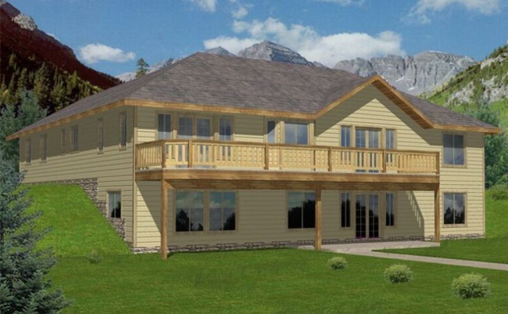 Unique Hillside Home Plans Lake House