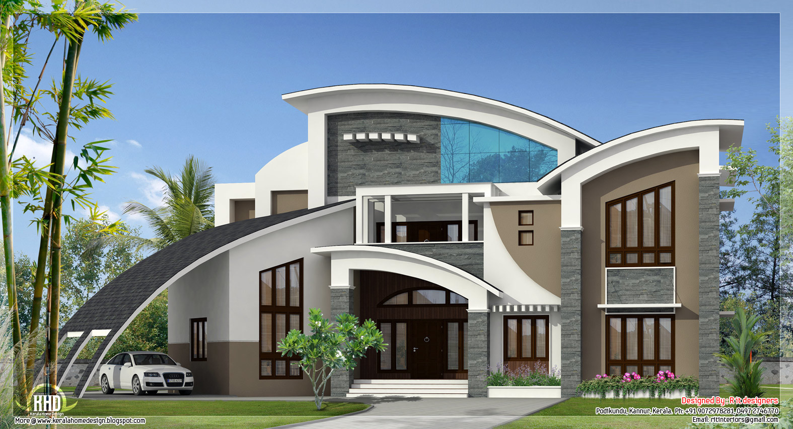 Unique Super Luxury Kerala Villa Home Design