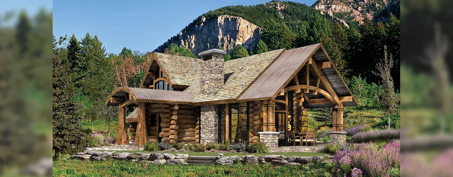 Upland Retreat Luxury Log Home Planber Frame House Plans
