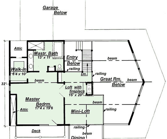 Upper Floor Plan Design Creative House Plans