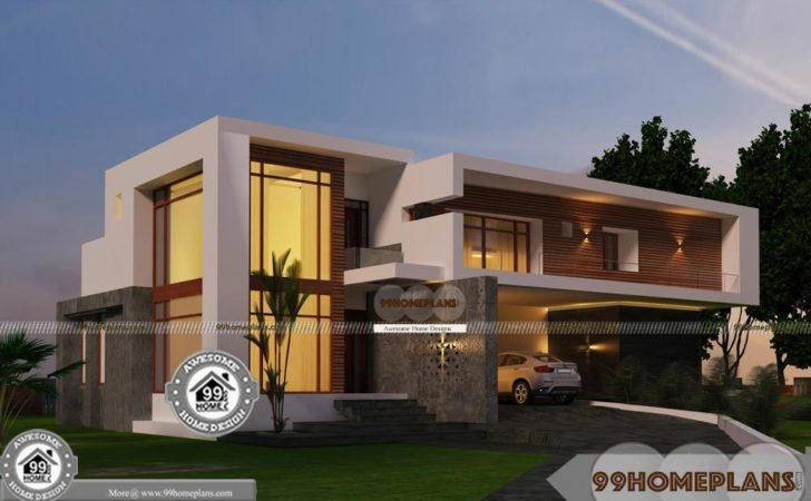 Urban House Plans Narrow Lot Double Floor New Contemporary