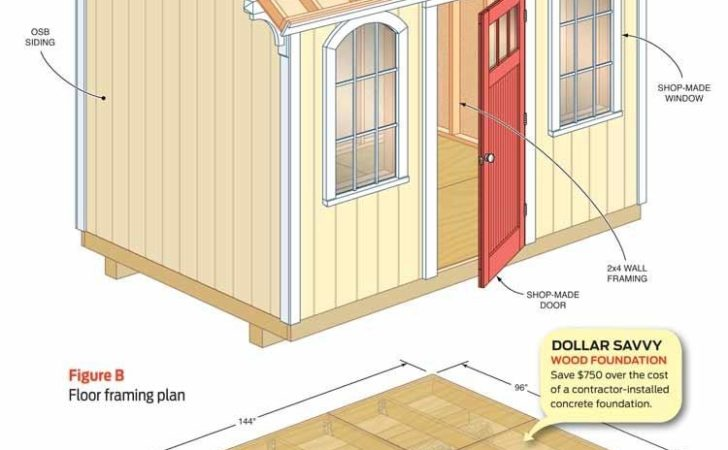 Utility Shed Plans Wooden Garden