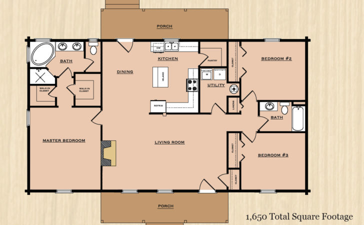 Very Interesting Country Style Floor Plans House