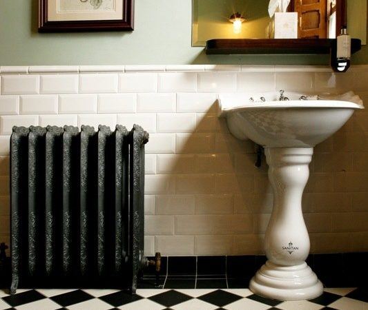 Victorian Black White Bathroom Floor Tiles Ideas