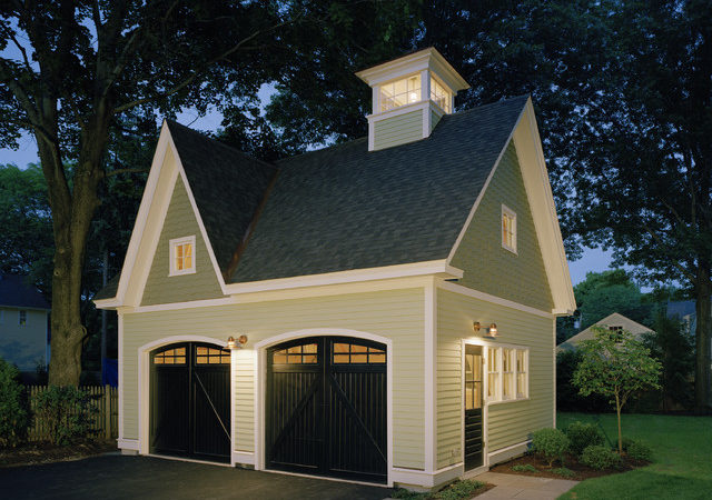 Victorian Carriage House Traditional Garage Shed