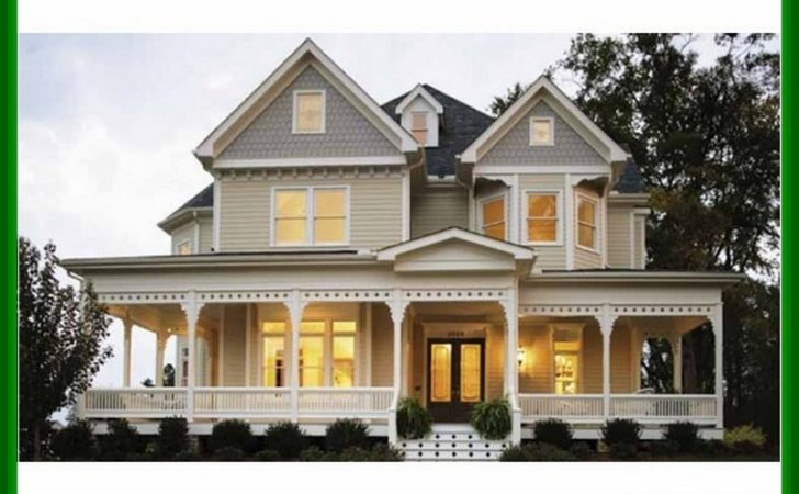 Victorian Farmhouse Plans Wrap Around Porches Design