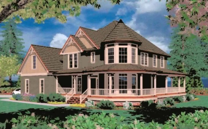 Victorian House Plans Wrap Around Porch Youtube