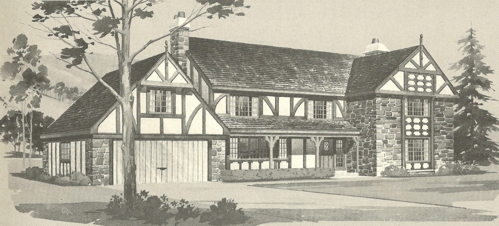 Vintage House Plans English Style Tudor Homes