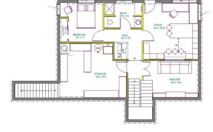 Walkout Basement Floor Plans One Story