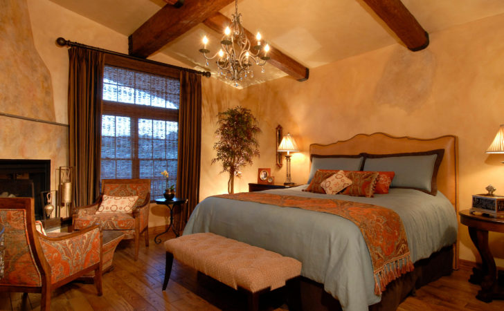 Warm Charming Tuscan Style Master Bedroom Huge